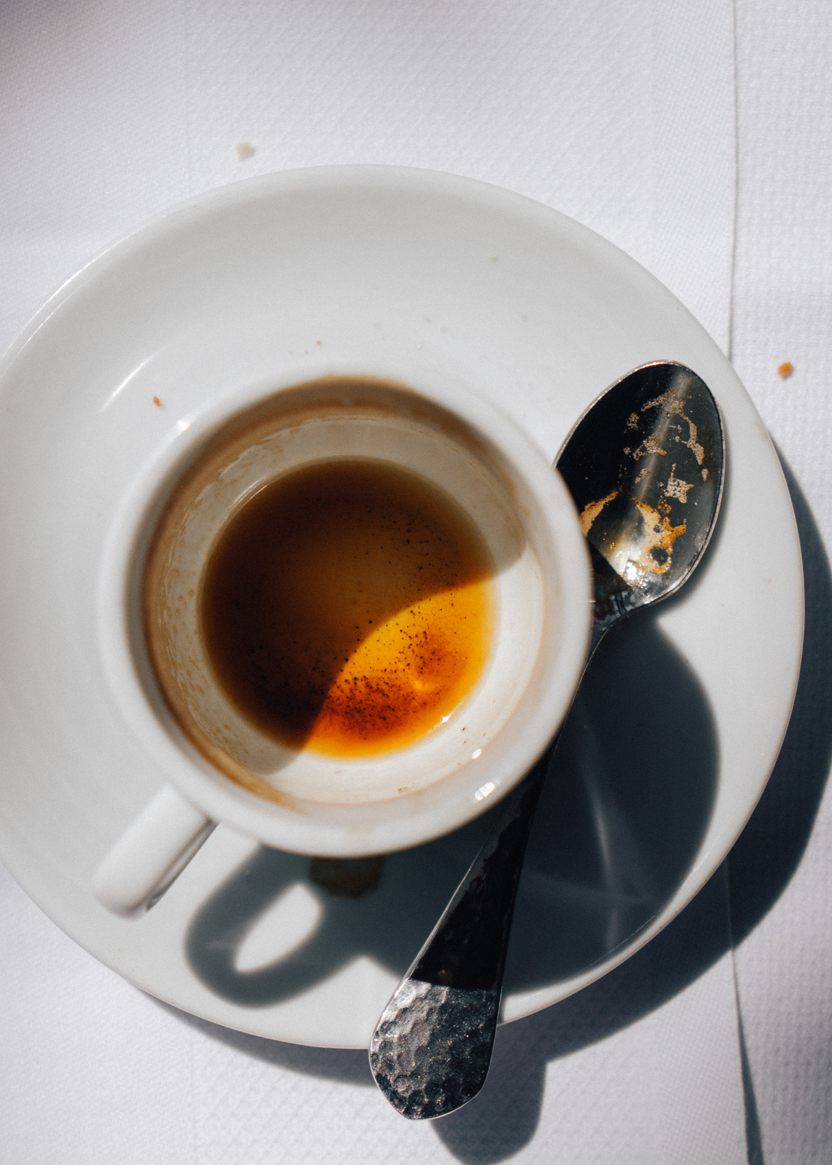 Los Angeles Editorial  Photographer - Empty Espresso cup by Ray Kachatorian