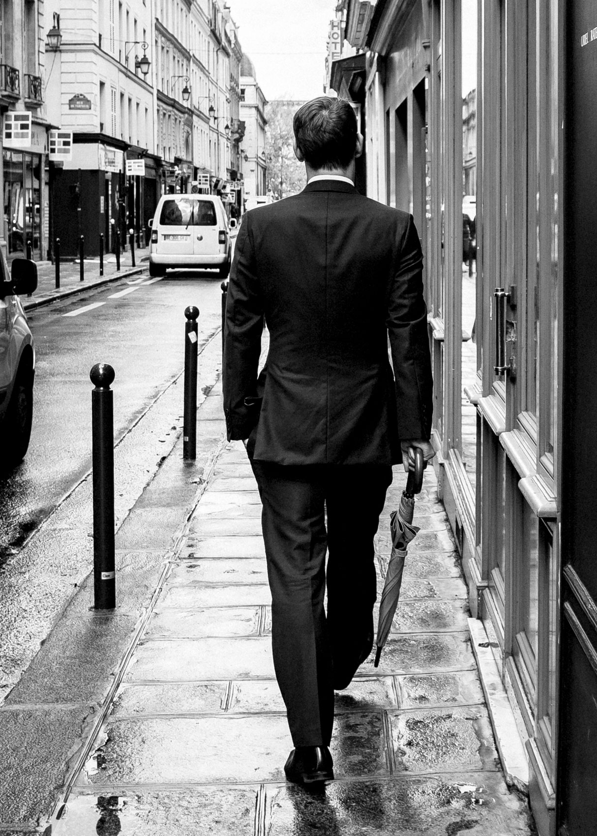 Los Angeles Street Photographer - Man walking streets of Paris by Ray Kachatorian