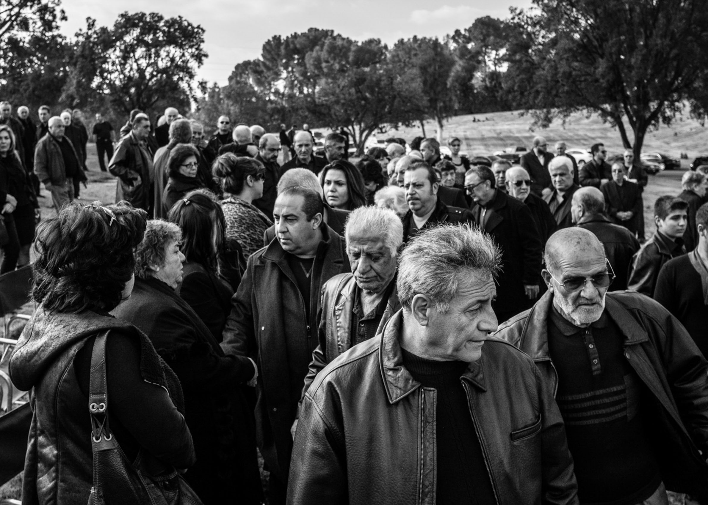 Los Angeles Street Photographer - Funeral at Forest Lawn Cemetery by Ray Kachatorian