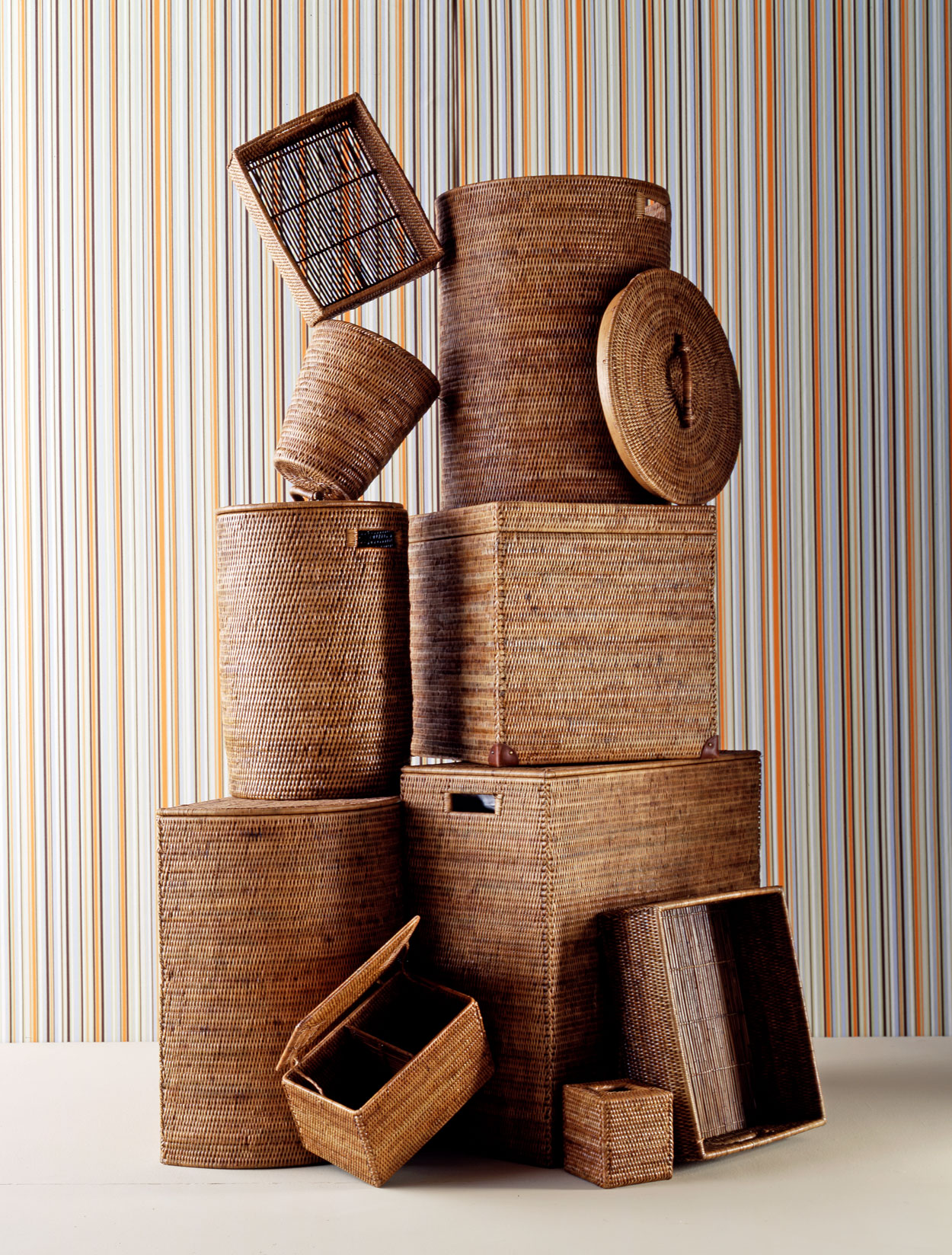 Los Angeles Still Life Photographer - Stack of Baskets  by Ray Kachatorian